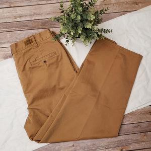 Filson Pleated Beige Chico Cotton Pants Mens 38x27